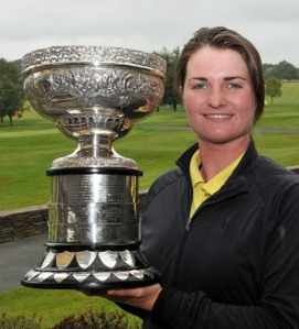 Danielle McVeigh celebrates success in the Irish Women's Close Championship in 2011