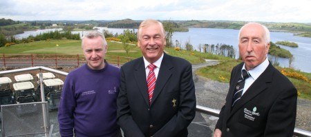 Conor McKenna (Head Professional Concra Wood GC), Christy O'Connor Jnr and (right) Andy Whelan Concra Wood GC