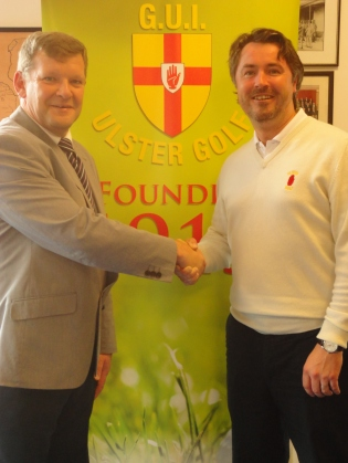 Ulster branch General Secretary, Kevin Stevens, welcomes, new Talent ID Officer,  Stephen Hood