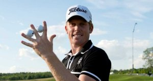 Australian Andrew scored a hole in one on the 7th and 11th holes during the second round of the Nordea Masters in Stockholm