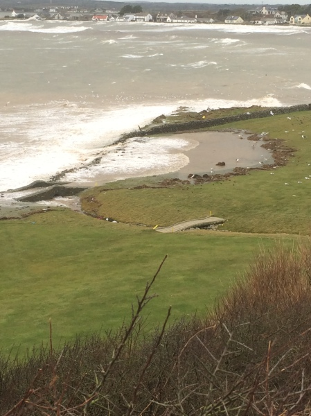 The sea encroaches onto the 11th fairway