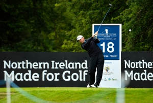 Michael Hoey in action at the Northern Ireland Open Challenge