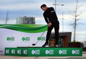 Gareth Maybin helps launch the Irish Golf Expo