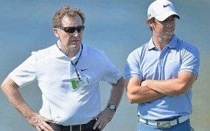 Michael Bannon (left) and Rory McIlroy