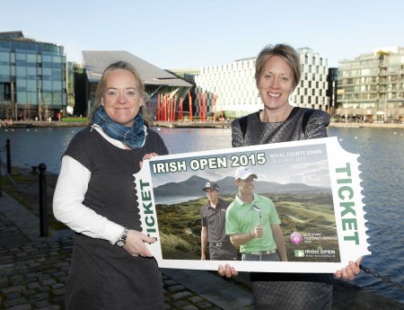 The European Tour's Irish Open Championship Director Antonia Beggs and NITB's Chief Operating Officer Kathryn Thomson