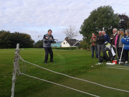 Michael Bannon hosting a clinic at St Patrick's GC