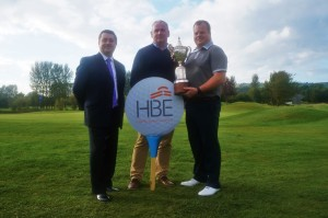 Jerry Scullion (right) with Adrian Byrne, HBE Risk Management (centre) and Robert Glashan (Hilton Templepatrick)