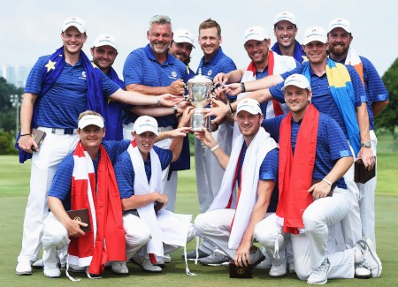 Europe celebrate EurAsia Cup success