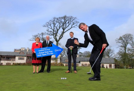 Announcing details of the initiative are (l-r) K Club Lady Captain Angela Cirillo, Captain Tony Kelly, European Tour Championship Director Rory Colville and Dubai Duty Free golf ambassador Des Smyth. Dear member of the media, please feel free to use the following gratis preview from the Dubai Duty free Irish Open preview (which must be credited to Golffile and used in conjunction with this release only) in your respective publications with immediate effect.