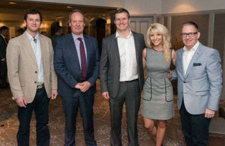 Launching the Kai Agency at Marcliffe Hotel and Spa Aberdeen. Pictured is (l-r): Michael MacDoughall, Peter Medley, Christopher Campbell, Kirsty Weir, Steven J Innes   Picture by Michal Wachucik / Abermedia