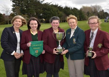 Valerie Hassett (President, Irish Ladies Golf Union) the 2016 Irish Schools Senior & Junior Cup Finals at Milltown Golf Club today (25/04/2016). Picture by Pat Cashman