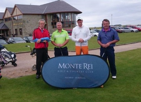 David Ryan (Cahir Park GC) and amateu partners Francis McCarthy, Noel Finn and James McCarthy who won a trip to Monte Rei Resort courtesy of finishing first in the team event at the Ballyliffin Pro-Am