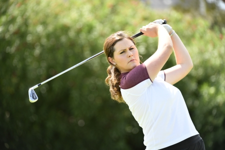 Olivia Mehaffey in action with ASU